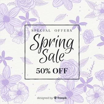花のスケッチ春販売の背景