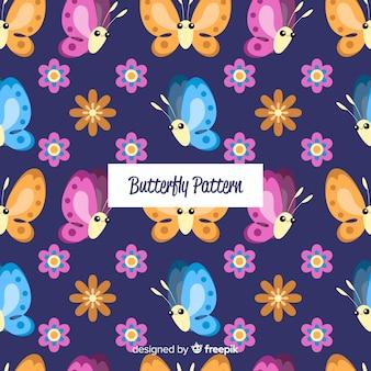 手描きの蝶の背景