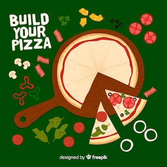 ピザの背景