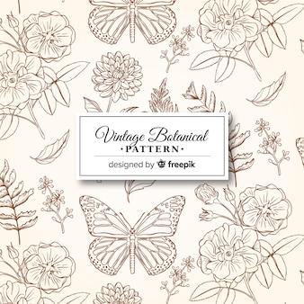 ビンテージ植物パターン