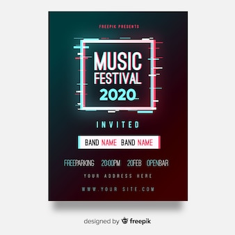 Плакат фестиваля квадратной музыки