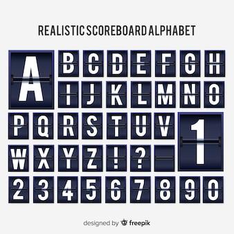 リアルなスコアボードのアルファベット