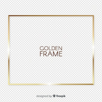 Реалистичная золотая рамка