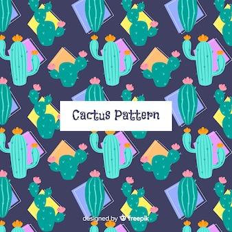 Нарисованная рукой предпосылка картины кактуса