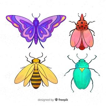 Красочная коллекция насекомых
