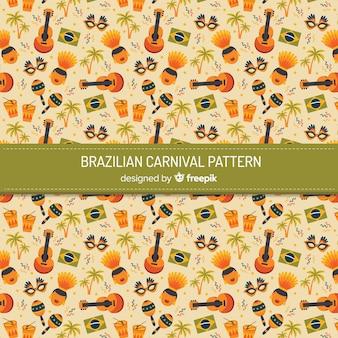 ブラジルのカーニバル要素の背景