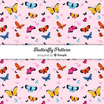 カラフルな蝶柄