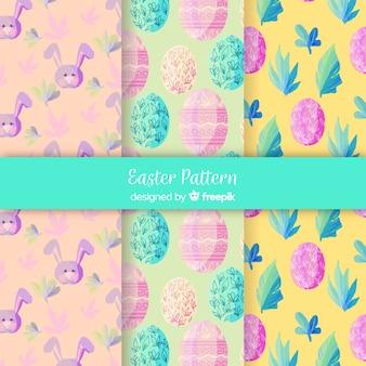 水彩イースターパターンコレクション