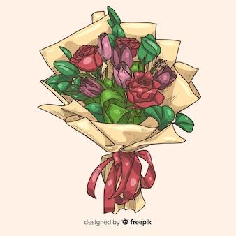 手描きの花束の背景