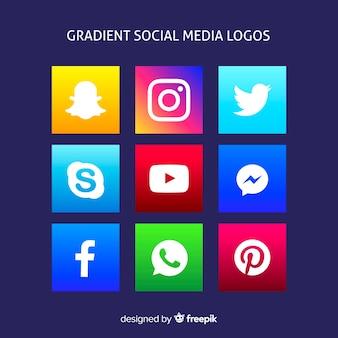 Градиентные логотипы в социальных сетях