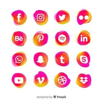 ソーシャルメディアロゴタイプコレクション