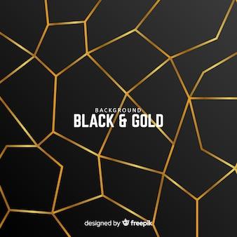 黄金の多角形の背景