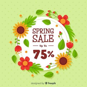 Плоский весенний распродажа фон