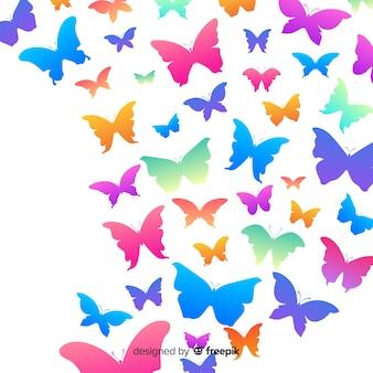蝶の群れの背景