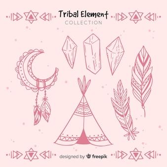 手描きの部族の要素のコレクション