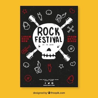 Шаблон плаката музыкального фестиваля