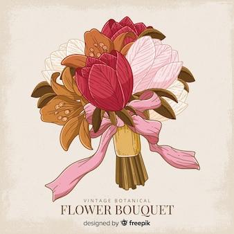 Винтажный ботанический цветочный букет