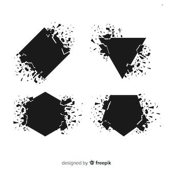 幾何学的形状の爆発バナー