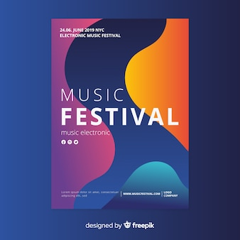 音楽祭ポスターテンプレート