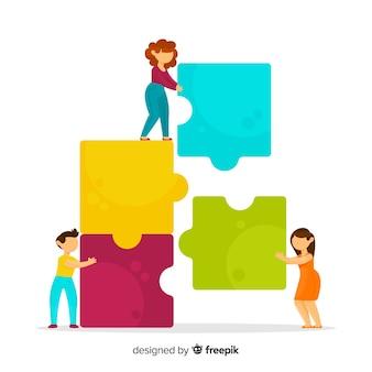 Команда, соединяющая фон головоломки