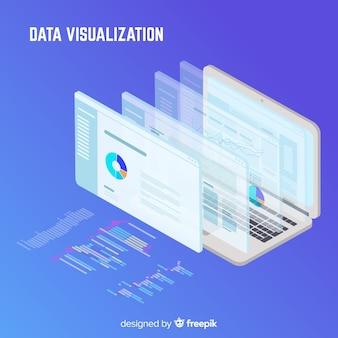 等尺性データの視覚化の概念