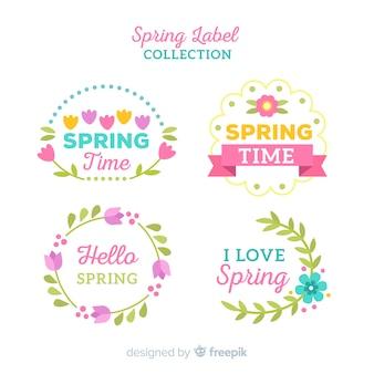 Коллекция весенних значков