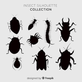 リアルな昆虫シルエットコレクション