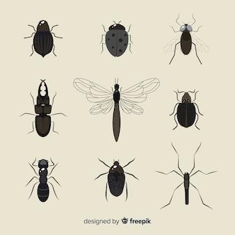 平らな無色の昆虫パック
