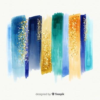 キラキラと水彩のストローク