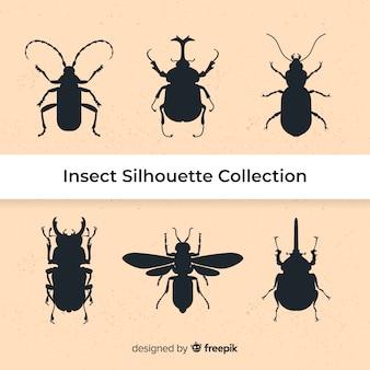 Коллекция силуэтов насекомых