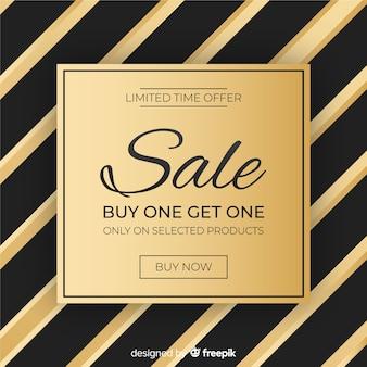 Черно-золотой фон продажи
