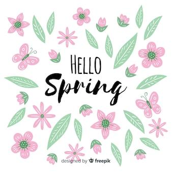 パステルカラーの春の背景