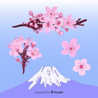 Ручной обращается ветка сакуры