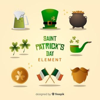 Коллекция элементов дня святого патрика