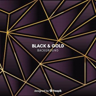 金の三角形の背景
