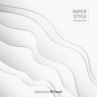 Реалистичный эффект бумаги волнистый фон