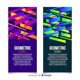 抽象的な幾何学的なバナー