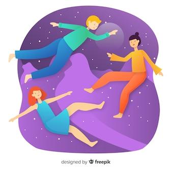 反重力の人々の背景