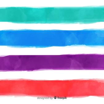 水彩ストライプの背景