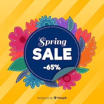 Красочный весенний фон продажи