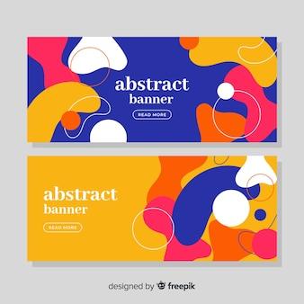 抽象的な有機的な形のバナー