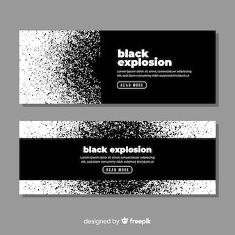 Коллекция баннеров темный взрыв