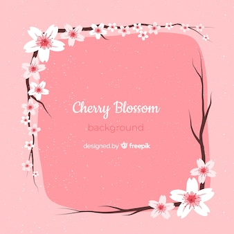 手描きの桜の花の背景