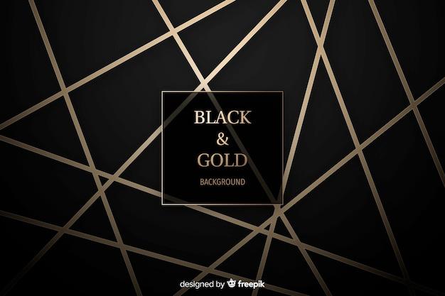 Черный и золотой фон