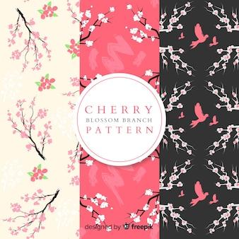 平らな桜模様
