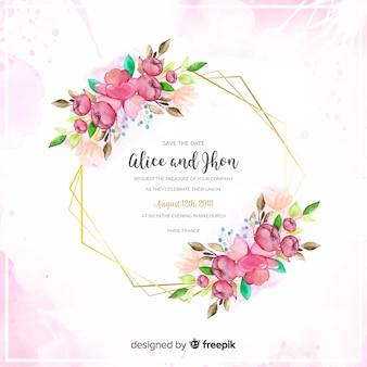 Шаблон свадебного приглашения