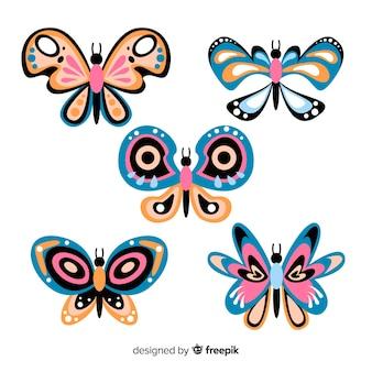 Плоская коллекция бабочек
