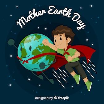 Плоский день матери-земли