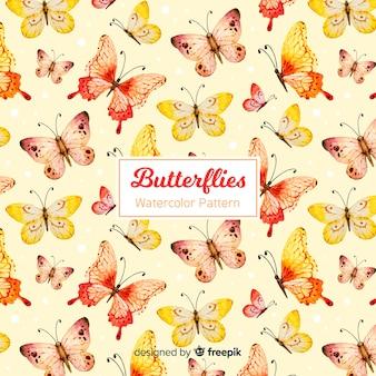 Акварельный фон бабочки