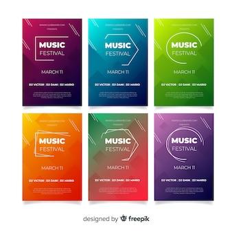 Коллекция плакатов музыкального фестиваля